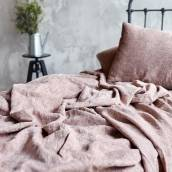 ROSE BROWN Pure Linen pillowcase