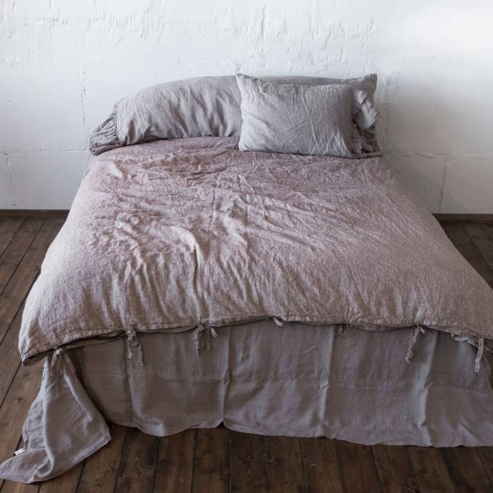LINEN DUVET COVER with ties