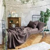 CHOCOLATE BROWN Pure Linen pillow slips