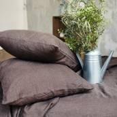 Linen pillowcase in beautiful CHOCOLATE BROWN