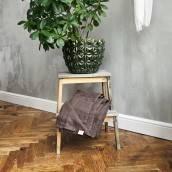 CHOCOLATE BROWN Pure Linen flat sheet