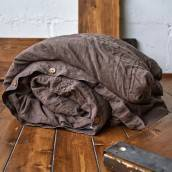 CHOCOLATE BROWN Pure Linen duvet cover