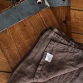 Linen flat sheet in beautiful CHOCOLATE BROWN