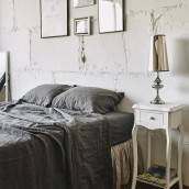 CHARCOAL GRAY Pure Linen pillowcase