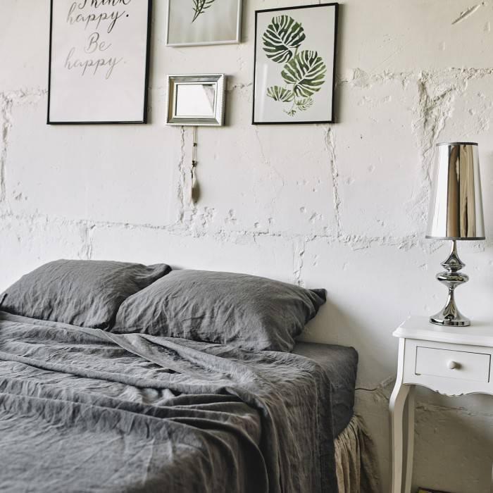 CHARCOAL GRAY Linen pillowcase