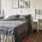 CHARCOAL GRAY Pure Linen duvet cover
