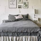 CHARCOAL GRAY 100 Percent Flax Linen duvet cover