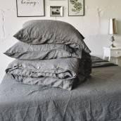 Linen pillowcase in beautiful CHARCOAL GRAY