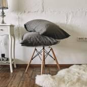 CHARCOAL GRAY 100 Percent Flax Linen pillowcase