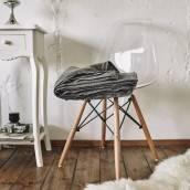 CHARCOAL GRAY Pure Linen flat sheet