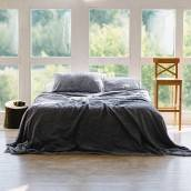 DUSTY BLUE 100 Percent Flax Linen pillowcase