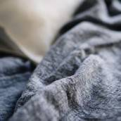 DUSTY BLUE 100 Percent Flax Linen fitted sheet