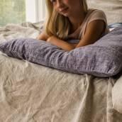 DUSTY BLUE Pure Linen pillowcase
