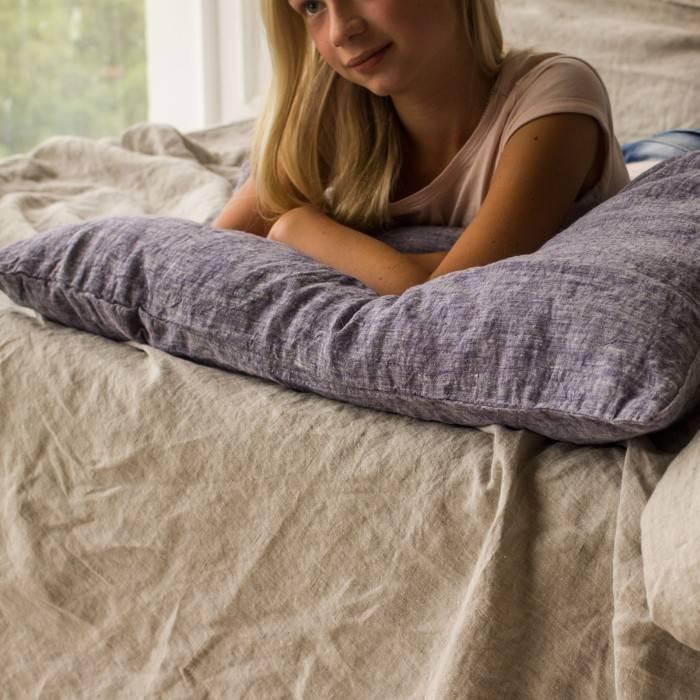 DUSTY BLUE Linen pillowcase
