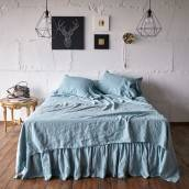 DUCK EGG 100 Percent Flax Linen flat sheet