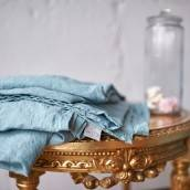 DUCK EGG Pure Linen sheet set with ruffle
