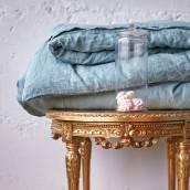 Linen duvet cover in beautiful DUCK EGG