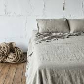 Linen pillowcase in beautiful FLAX GRAY