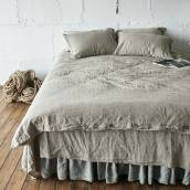 FLAX GRAY Pure Linen duvet cover