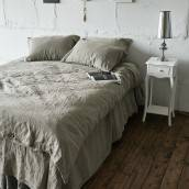 Linen duvet cover in beautiful FLAX GRAY