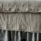 FLAX GRAY Pure Linen duvet cover
