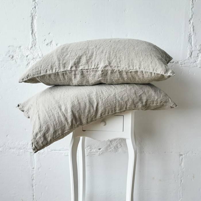 FLAX GRAY Linen pillowcase