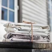 Linen flat sheet in beautiful TAUPE