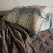 CHECKERED Pure Linen pillowcase