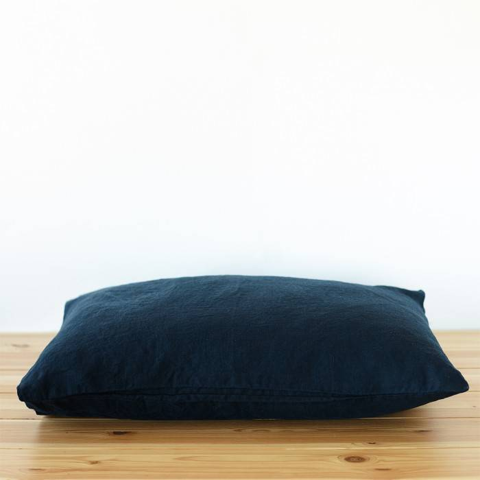 NIGHT BLUE Linen pillowcase