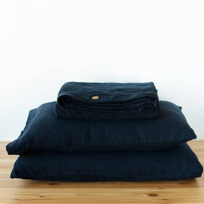 NIGHT BLUE Linen duvet cover