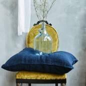 NIGHT BLUE 100 Percent Flax Linen pillowcase