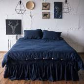 Linen duvet cover in beautiful NIGHT BLUE