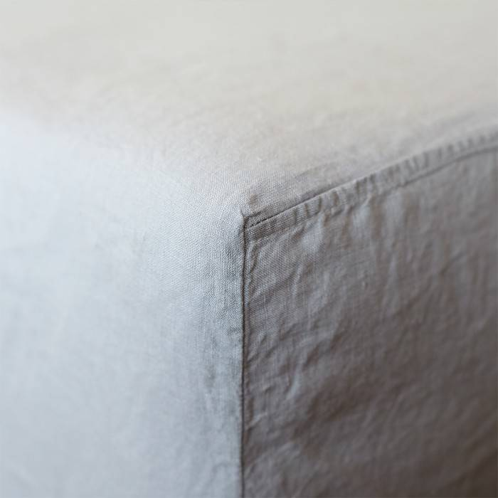 PINK ASH Linen fitted sheet