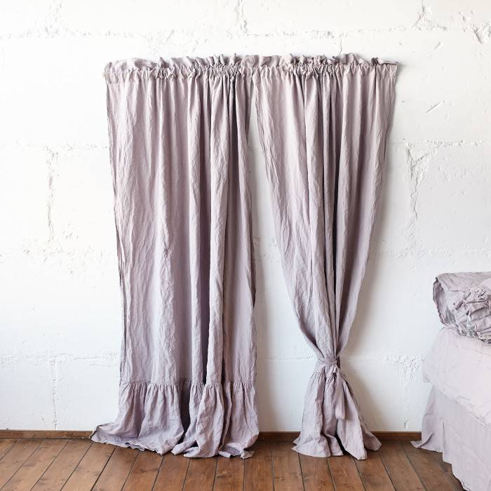 LINEN CURTAINS  ruffle