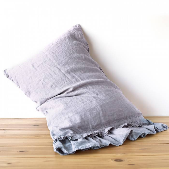 LINEN PILLOWCASE double ruffle
