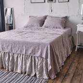 Linen flat sheet in beautiful PINK ASH