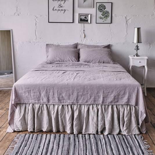 PINK ASH Linen sheet set slip