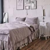 PINK ASH 100 Percent Flax Linen duvet cover