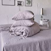 Linen pillowcase in beautiful PINK ASH