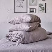 Linen duvet cover in beautiful PINK ASH