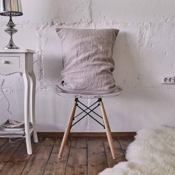 PINK ASH Linen pillowcase