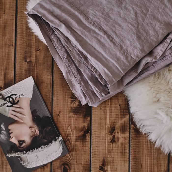 PINK ASH Linen flat sheet