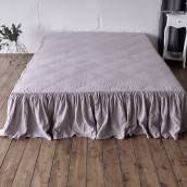 Linen bed skirt in beautiful PINK ASH
