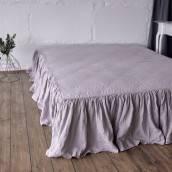 PINK ASH Pure Linen bed skirt