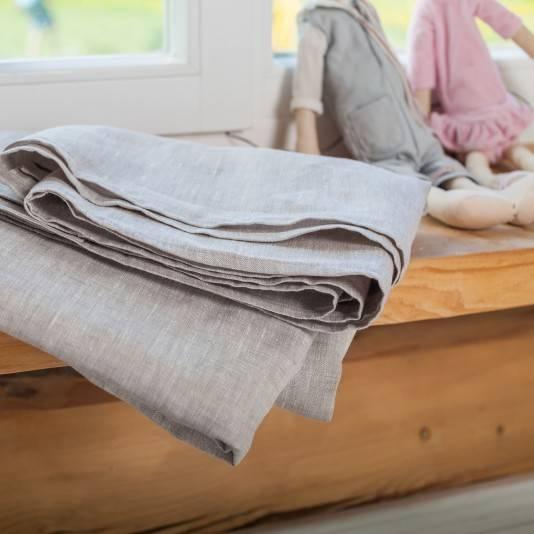 TAUPE Linen flat sheet