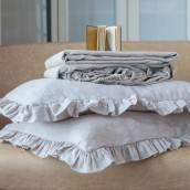 TAUPE 100 Percent Flax Linen flat sheet