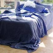 FRENCH BLUE Pure Linen fitted sheet