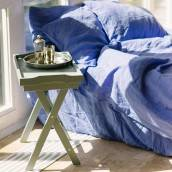 FRENCH BLUE 100 Percent Flax Linen pillowcase