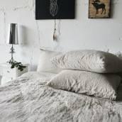 Linen pillowcase in beautiful NATURAL GREY