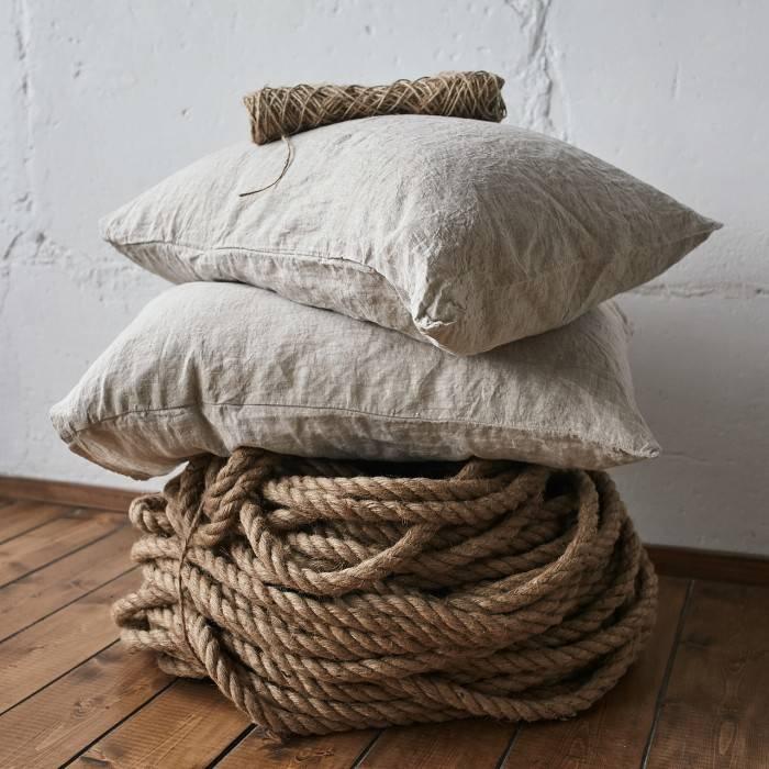 NATURAL GREY Linen pillowcase
